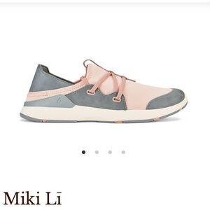 Olukai • Miki Li Blush and Grey Athletic Shoes